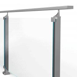 Balustrada model DETROIT MGAUI aluminiowa, wysokość 96 cm