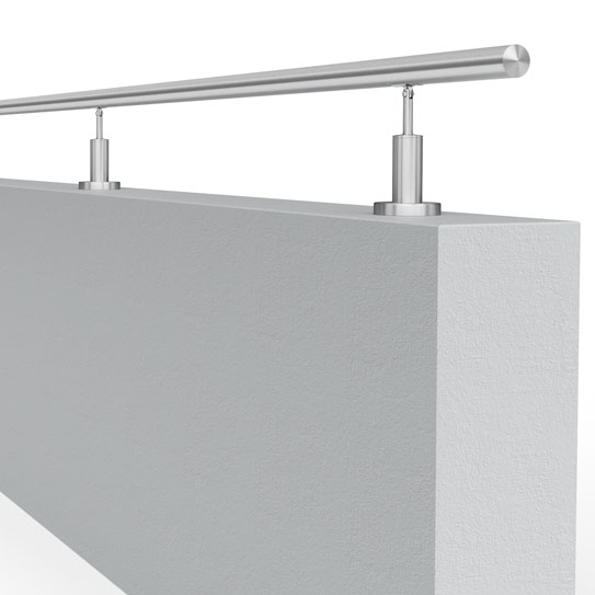 systemy balustrad montowanych na murkach