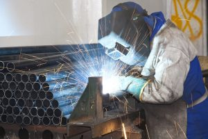 Factory Worker Welding